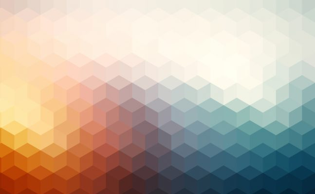 Abstract cubes retro styled colorful background.